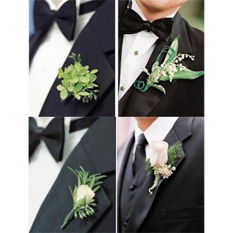 婚礼胸花应该怎样佩戴?