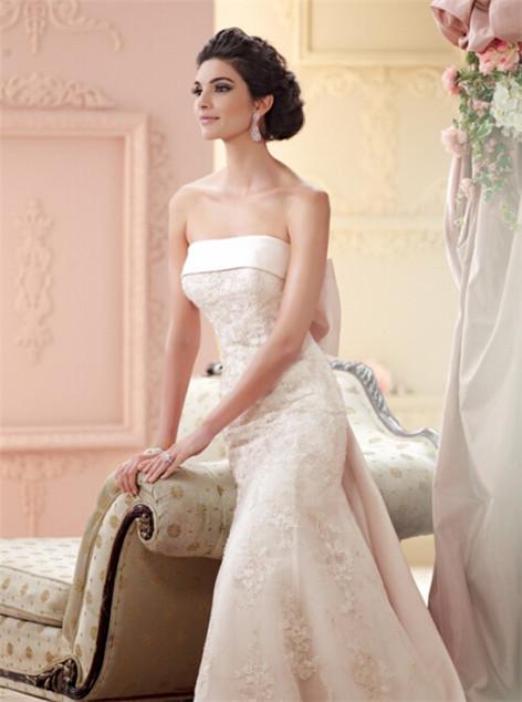 修身婚纱礼服 经典优雅合身婚纱礼服款式