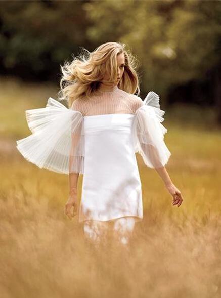 户外婚礼适合婚纱礼服 浪漫的波西米亚风