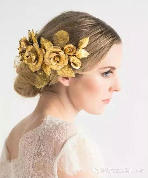 除了头纱 新娘发饰还可以这么美