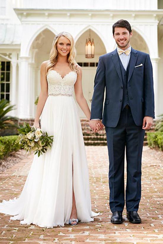 长腿新娘看过来 穿上高开衩婚纱美煞众人