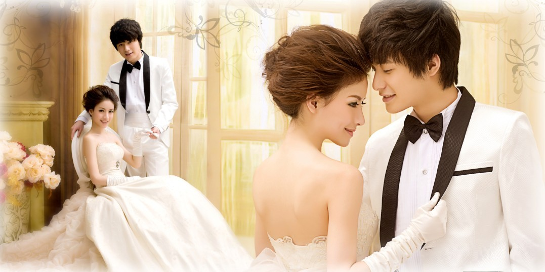 韩式经典婚纱照,不可少的拍摄元素