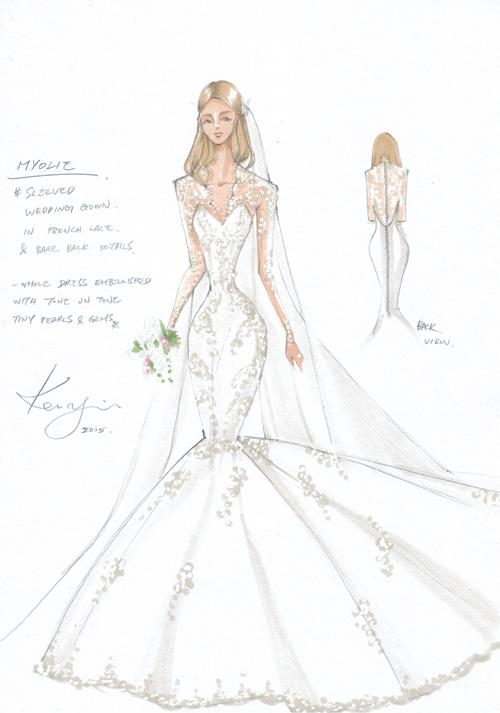 宝仕奥莎联手Kevolie打造胡杏儿完美嫁衣