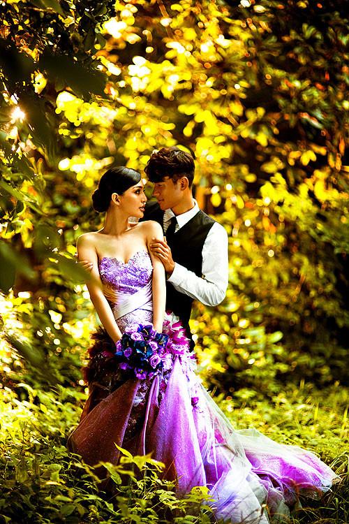 一组精美的森系婚纱照图片