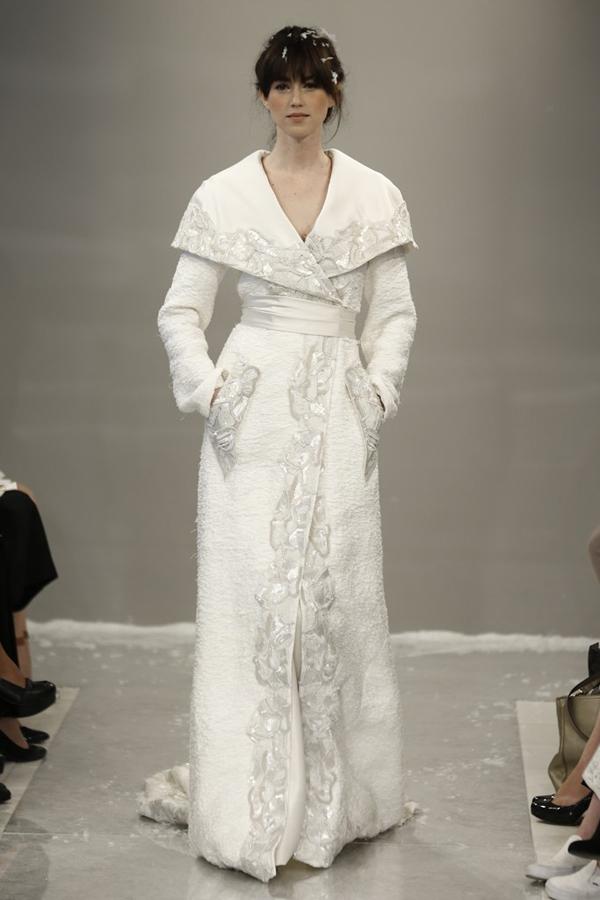 冬季新娘着装 要风度亦要温度
