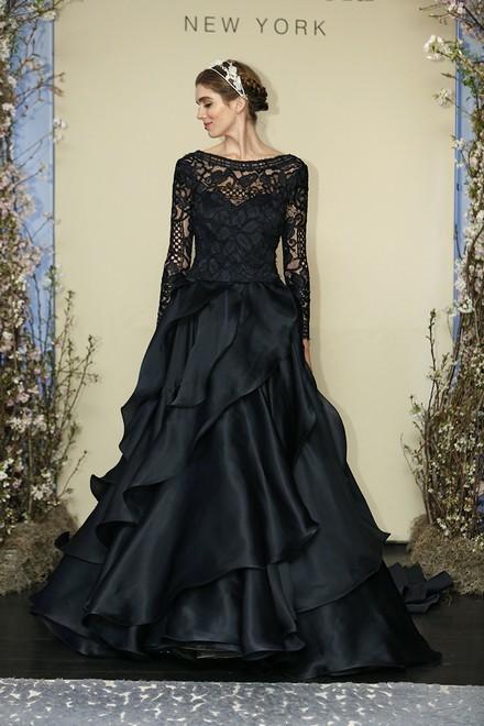 黑色婚纱 另类新娘无法拒绝它的美